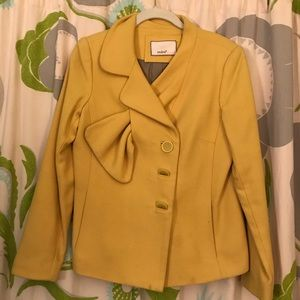 Mint by Jodi Arnold yellow wool jacket